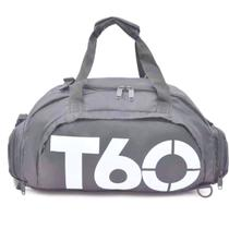 Bolsa T60 Academia Fitness Com Bolsos Impermeável Resistente - Meimi