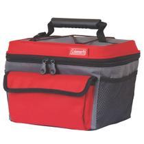 Bolsa térmica 10 latas vermelho/cinza - coleman -