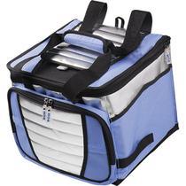 Bolsa Térmica 24 Litros até 32 Latas Dobrável Ice Cooler MOR - Azul -
