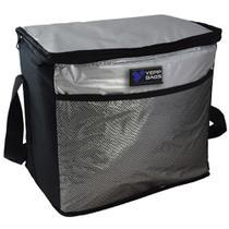 Bolsa termica 24 litros grande portatil ice cooler frasqueira dobravel com alca para refeicao churrasco bebidas doces sobremesas - GIMP