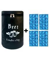 Bolsa Térmica Barril Heideken Keg Growler 5L + 4 Cartelas de gelo em gel - Beer Keg & Growler