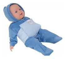 Bolsa Térmica Bebê sem Cólica com Cinta Poa Azul - Bolsa térmica de sementes