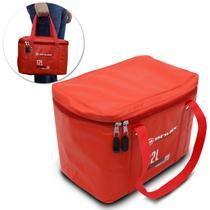 Bolsa Térmica Caixa Cooler Praia Viagem Churrasco Camping 12 Litros Shutt Impermeável Vermelha -