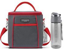 Bolsa Térmica cinza C/ Garrafa Squeeze 700ml Jacki Design -