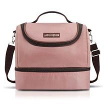 Bolsa Térmica Com 2 Compartimentos Rosa Jacki Design -