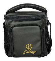 Bolsa Térmica Compacta Emborrachada Preta Logotipo Dourado - Everbags