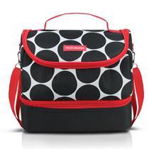 Bolsa Térmica Dots Com 2 Compartimentos Preto Jacki Design -