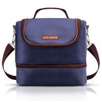 Bolsa Térmica dupla masculina azul com marrom Jacki Design -