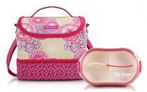 Bolsa térmica feminina com marmita 750ml rosa mylolla - Jacki design