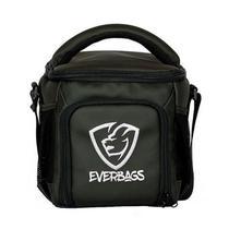Bolsa Térmica Fitness Compacta Marmita Preta Branca Lancheira Academia - Everbags
