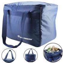 Bolsa Térmica Grande 26 Litros Cerveja Lanche Bebida Azul - Bag freezer