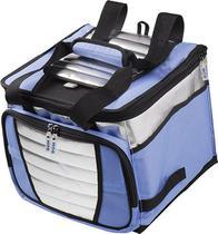 Bolsa Térmica Ice Cooler Azul 24 Litros 32 Latas para Praia e Alimentos Mor -