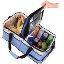 Bolsa Térmica Ice Cooler com Divisória 48 litros Azul  Mor -