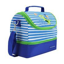 Bolsa Termica infantil dinossauro  2 Compartimentos azul 17387 - Jacki Design