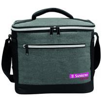 Bolsa Térmica Sanremo 8 Litros Cinza Marmita Bag Freezer -