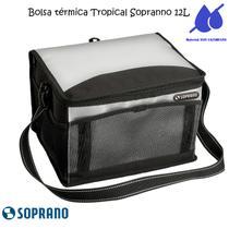 Bolsa Térmica Tropical 12 Litros Soprano Preta -