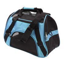 Bolsa Transporte flexível Cães e Gatos avião Azul P GT827 - Lorben -