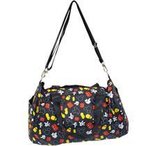 Bolsa Viagem Academia Preta Partes Corpo Mickey 22x43x25cm - Disney - Taimes
