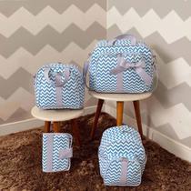 Bolsas de Maternidade Chevron com Laço 4 Peças - Milori Baby