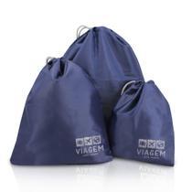 Bolsas Organizadoras de Malas P M G Jacki Design Azul -