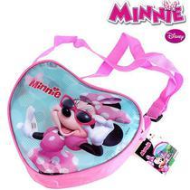 Bolsinha Infantil Minnie 23 Cm Coração - 139949 - Etilux