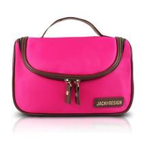 7da576720 Bolsinha necessaire viagem grande com alça e zíper maquiagem e acessórios jacki  design pink