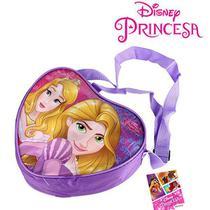 Bolsinha Princesas Disney Infantil Coração 27 Cm - 139948 - Etilux