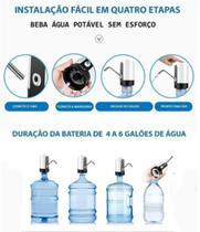 bomba elétrica bebedouro p garrafão galão agua elétrica recarregável - Prime