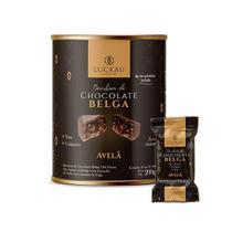 Bombom Zero Açúcar Chocolate Belga 54% Creme de Avelã - Luckau Chocolate