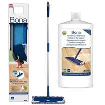 Bona - mop com refil de microfibra + renovador de brilho 1lt -