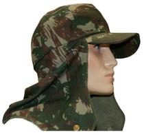 Boné Camuflado EB com Protetor Camping Pesca - Atacado Militar 187-T -