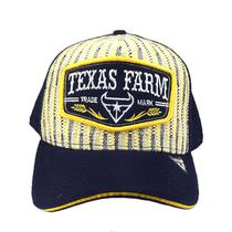 Boné Country Trucker Aba Curva Texas Farm Trademark Listrado