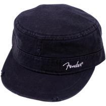"""Boné Logo Military Cap """"P/M"""" Preto FENDER -"""