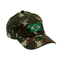 Boné Militar Rip Stop Com Patch Aplicado Bandeira do Brasil  Camuflado - Mundo Do Militar