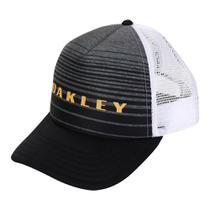 Boné Oakley Aba Curva Striped Bark Trucker -