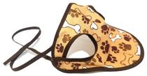 Boné Para Cachorro Com Viseira Marrom Estampado  Tamanho M - Nica Pet