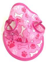 Boné Para Cachorro Com Viseira Rosa Estampado Tamanho M - Nica pet
