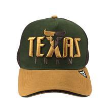 b728cc3eaa172 Bone Trucker de telinha Aba Curva Texas Farm Verde e Marrom