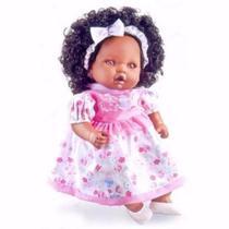 Boneca angelina negra - milk - Milk brinquedos -