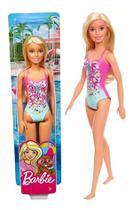 Boneca Articulada Barbie Loira Na Praia De Biquíni Mattel -