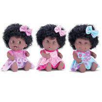 Boneca Babies Expressoes Trigemeas Negra - BeeToys Brinquedos -