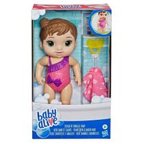 Boneca Baby Alive Bebê Banhos Carinhosos Morena - E8716 - Hasbro -