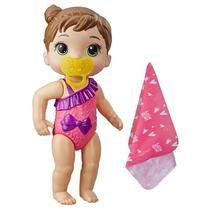 Boneca Baby Alive Bebê Banhos Carinhosos Morena E8722 - Hasbro E8716 -