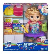 Boneca Baby Alive - Bebê Faminta Loira  Comidinha Feliz Fala Portugues- Hasbro -