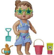 Boneca Baby Alive Bebê Sol e Areia com Acessórios Morena - H - Hasbro