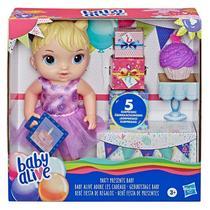 Boneca Baby Alive Festa Surpresa de Presentes Loira E8719 - Hasbro -