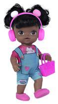 Boneca Baby Colection Influencer Influenciadora Negra 27cm - Super Toys