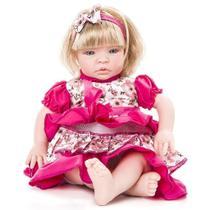 Boneca Baby Kiss Loira Tipo Reborn Chora E Balbucia - PR - Cegonha Reborn Dolls
