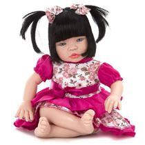 Boneca Baby Kiss Morena Tipo Reborn - Sidnyl