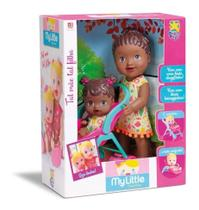 Boneca Baby Little Collection Alive Tal Mãe Tal Filha Negra - Divertoys